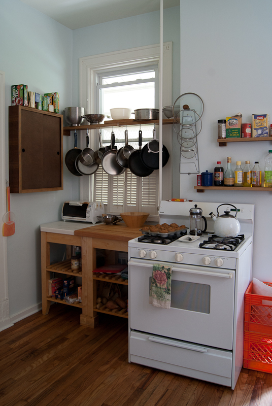 Reclaimed Rental Apartment Kitchen